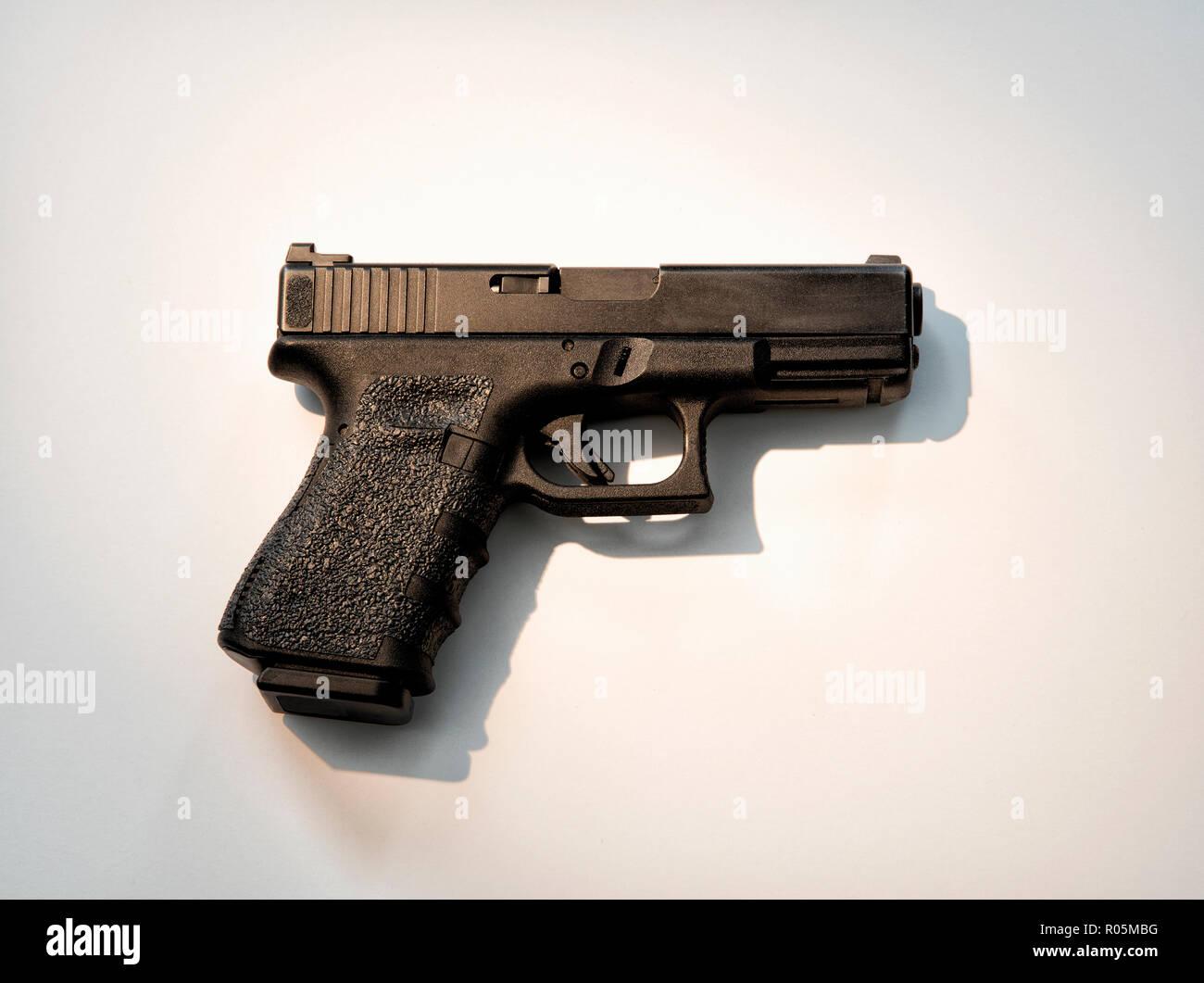 Semiautomatic Glock handgun - Stock Image