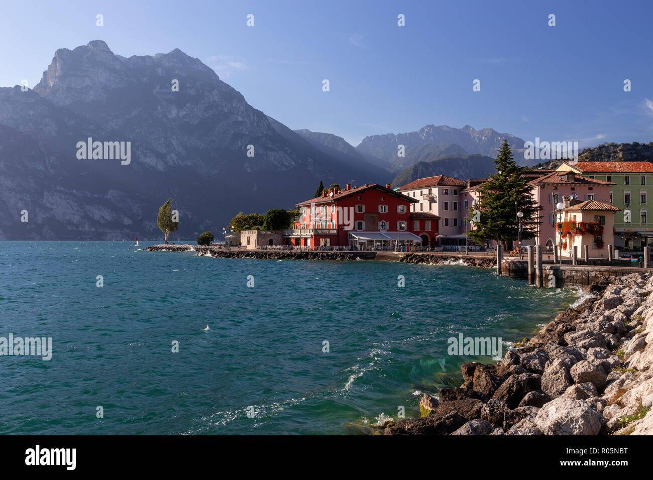 Torbole near Riva del Garda on Lake Garda in northern Italy Stock Photo