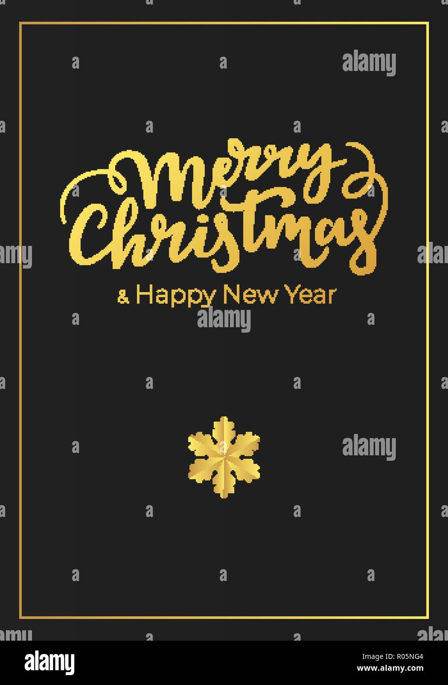 luxury card with minimalist design for christmas and new year winter holidays postcard made of a premium black paper and decorated with best wishes l