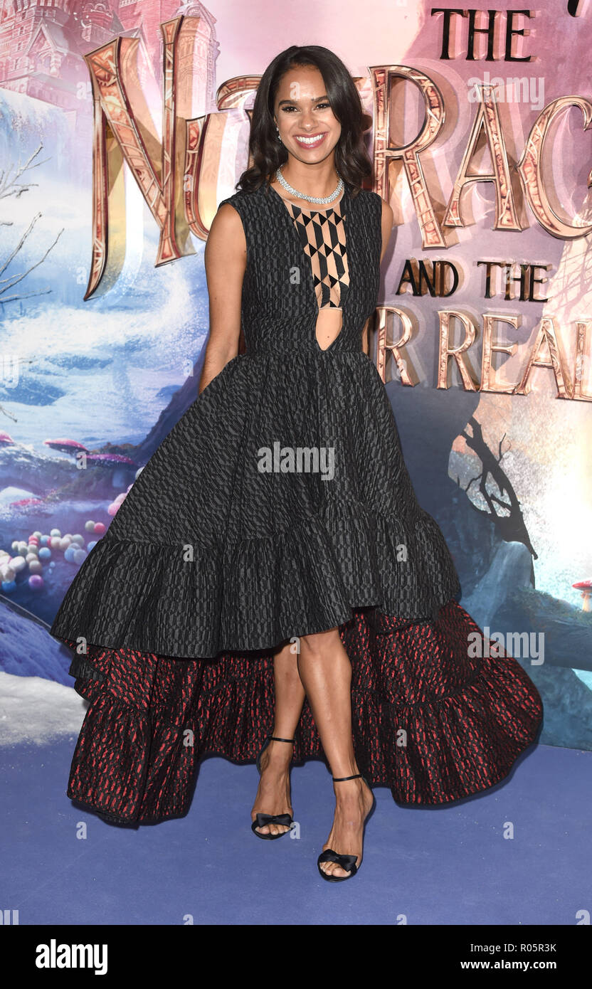 Photo Must Be Credited ©Alpha Press 079965 01/11/2018 Misty Copeland The Nutcracker And The Four Realms European Gala Screening At Westfield London - Stock Image