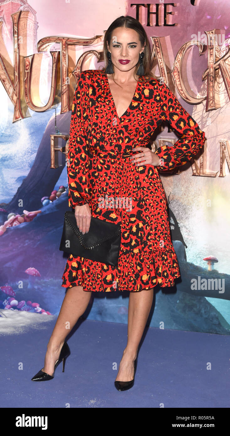 Photo Must Be Credited ©Alpha Press 079965 01/11/2018 Emma Conybeare  The Nutcracker And The Four Realms European Gala Screening At Westfield London - Stock Image