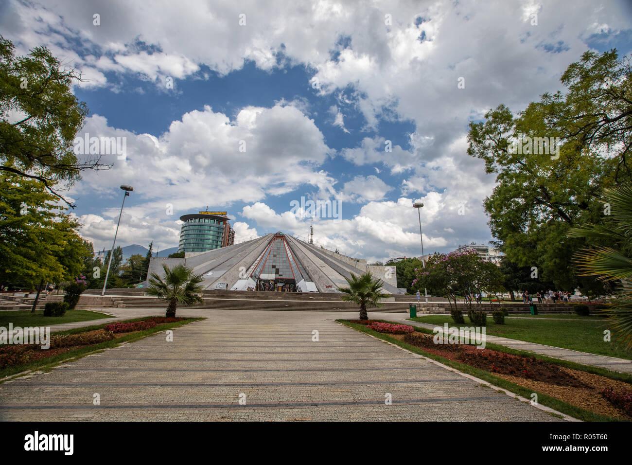 Mausoleum in Tirana, Albania. - Stock Image
