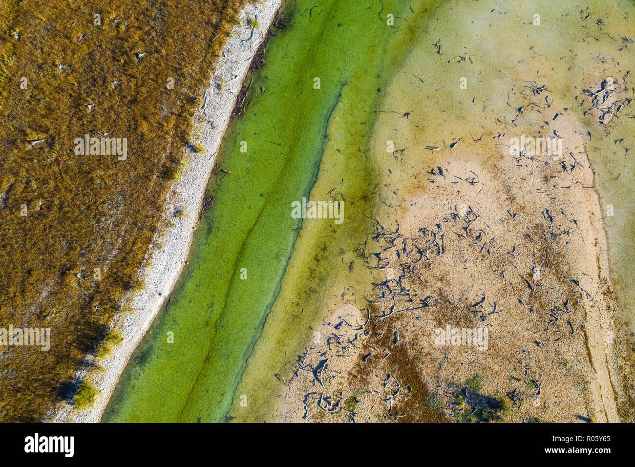 Sylvensteinsee, Sylvenstein Dam, drone image, Lenggries, Isarwinkel, Upper Bavaria, Bavaria, Germany - Stock Image