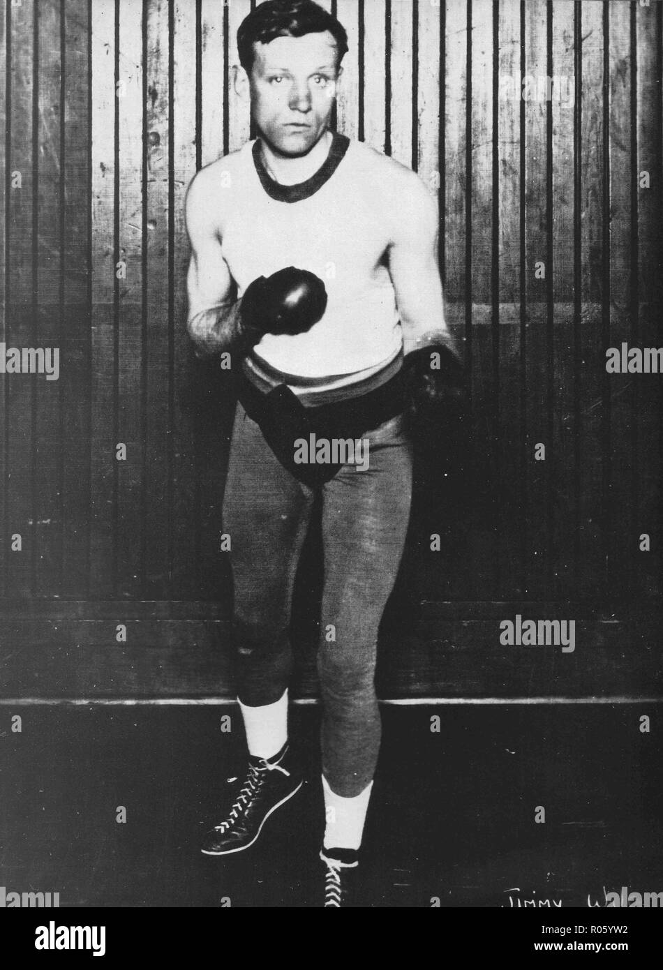 Photo of William James JImmy Wilde, Flyweight Champion of the World (1892-1969) born in Quaker's Yard, Wales, known as the 'Tylorstown Terror'. - Stock Image
