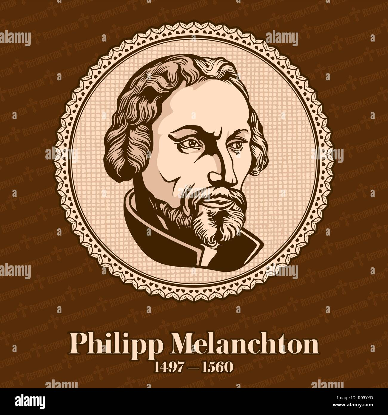 Philip Melanchthon (1497 – 1560) was a German Lutheran reformer, collaborator with Martin Luther, the first systematic theologian - Stock Image