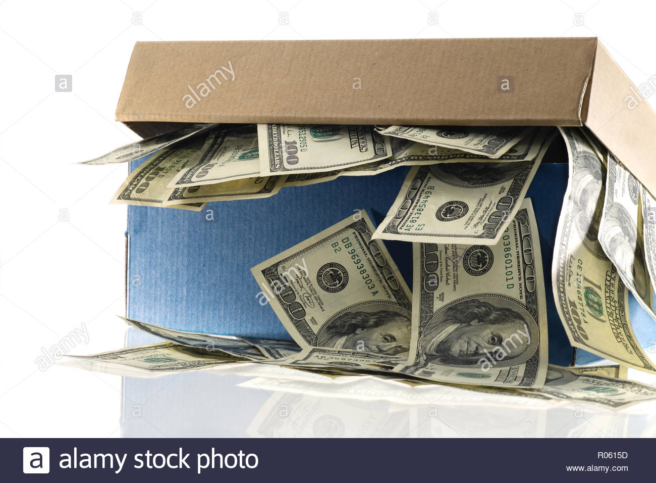 Shoebox Full Of Money.Savings In A Shoebox Rather Than A Secure Banking System