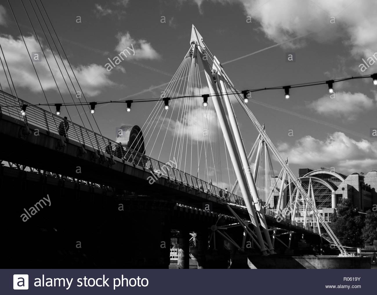 Hungerford Bridge, London - Stock Image