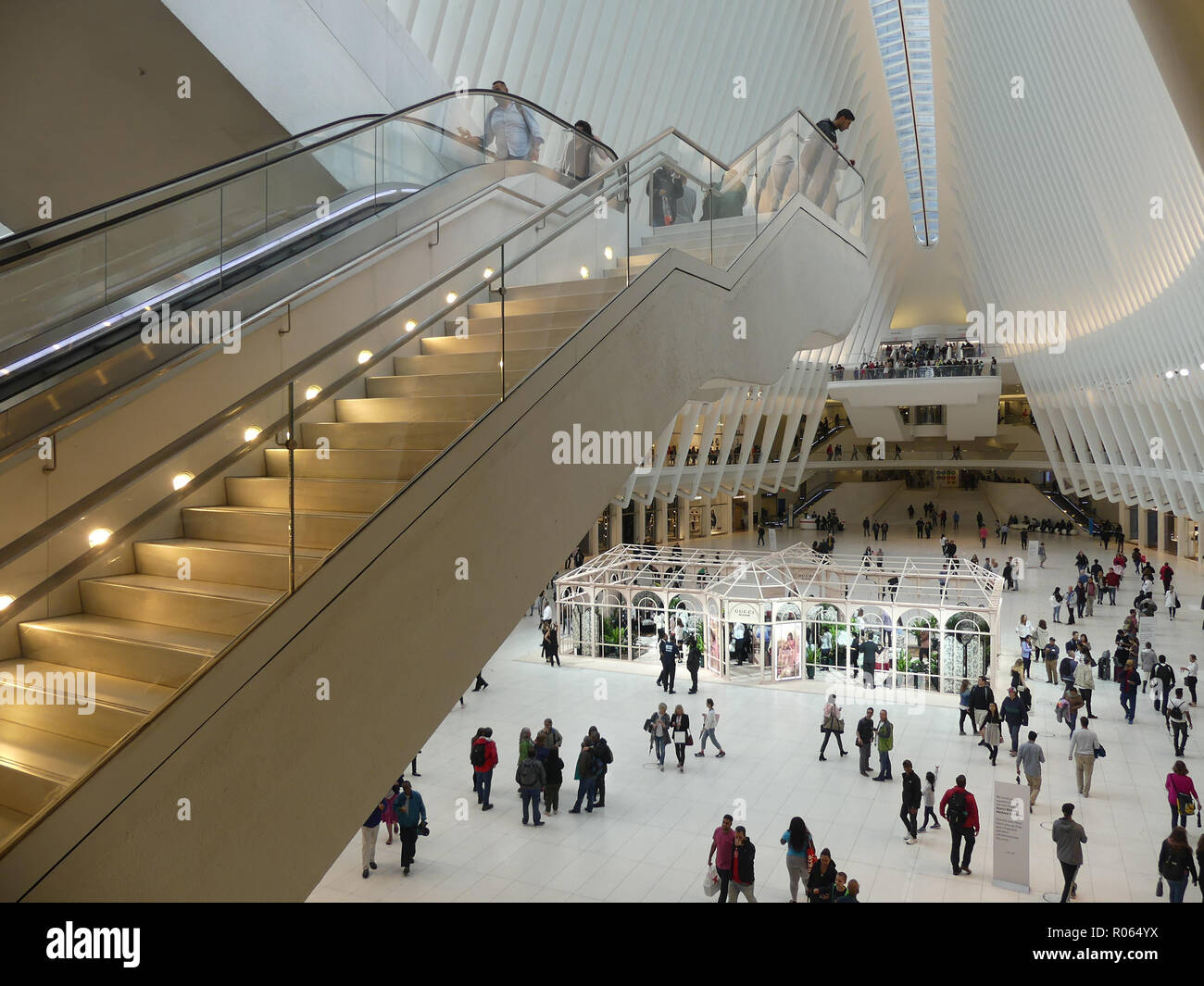 WESTFIELD WORLD TRADE CENTRE, near the site of the 9/11 disaster in Manhattan, New York. Photo: Tony Gale - Stock Image