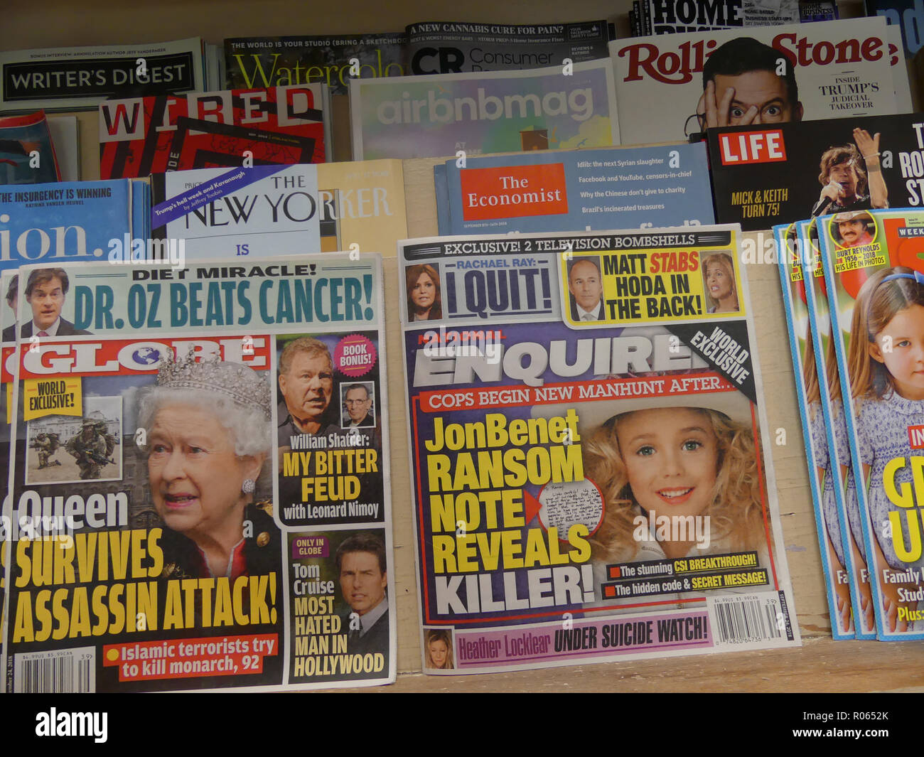 AMERICAN MAGAZINES on sale in Washington in September 2018. Photo: Tony Gale - Stock Image