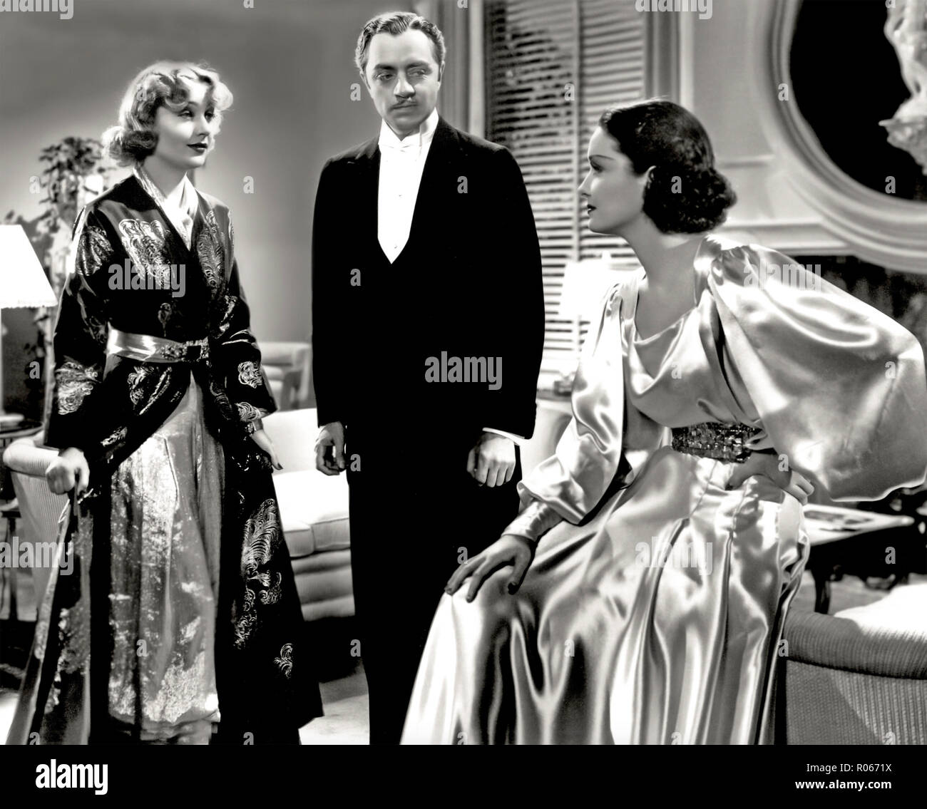 MY MAN GODFREY 1936 Universal Pictures film with from left: Carole Lombard, William Powell, Gail Patrick - Stock Image
