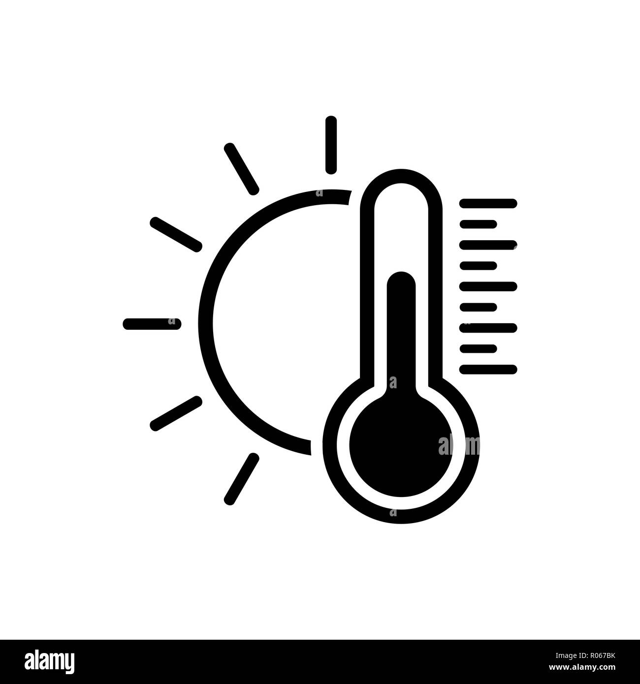 Temperature icon. Good sunny weather symbol - Stock Image