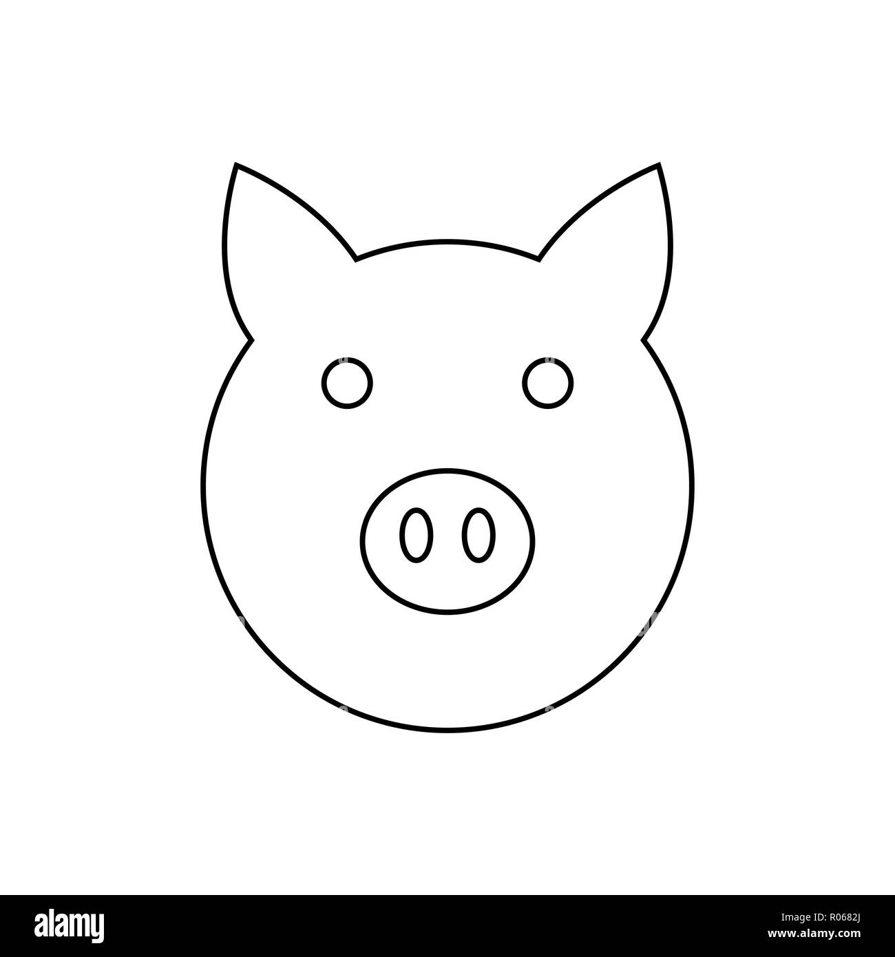 pig icon vector illustration template for your design stock vector