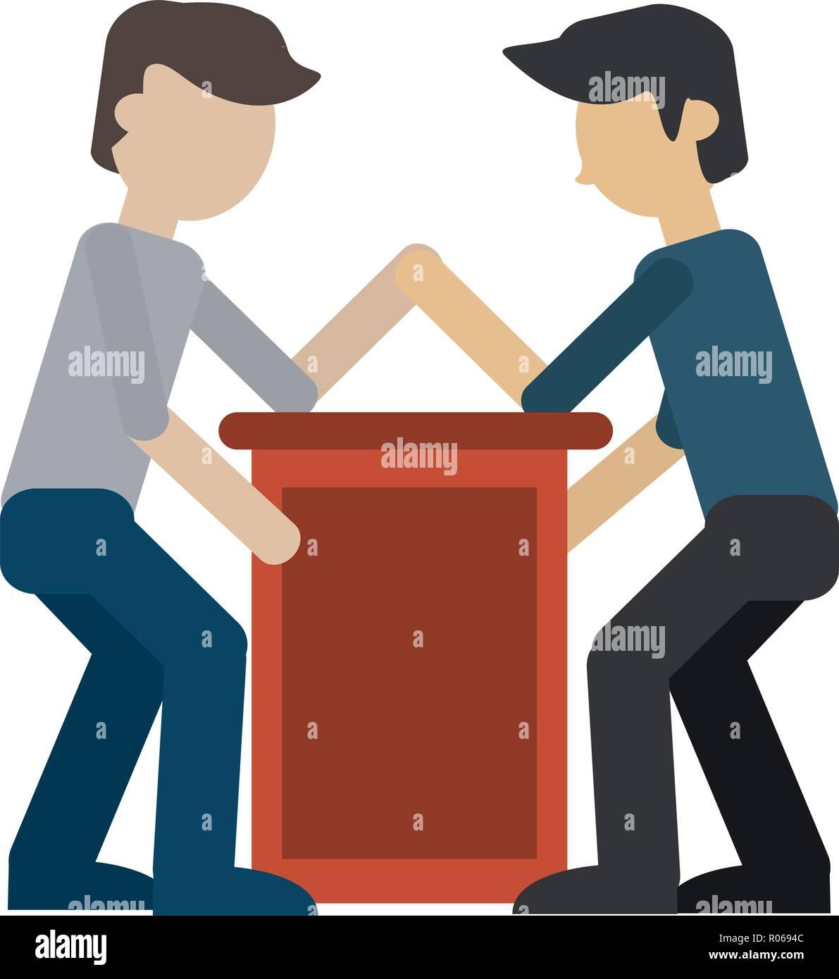 Arm wrestling men avatar vector illustration graphic design - Stock Image