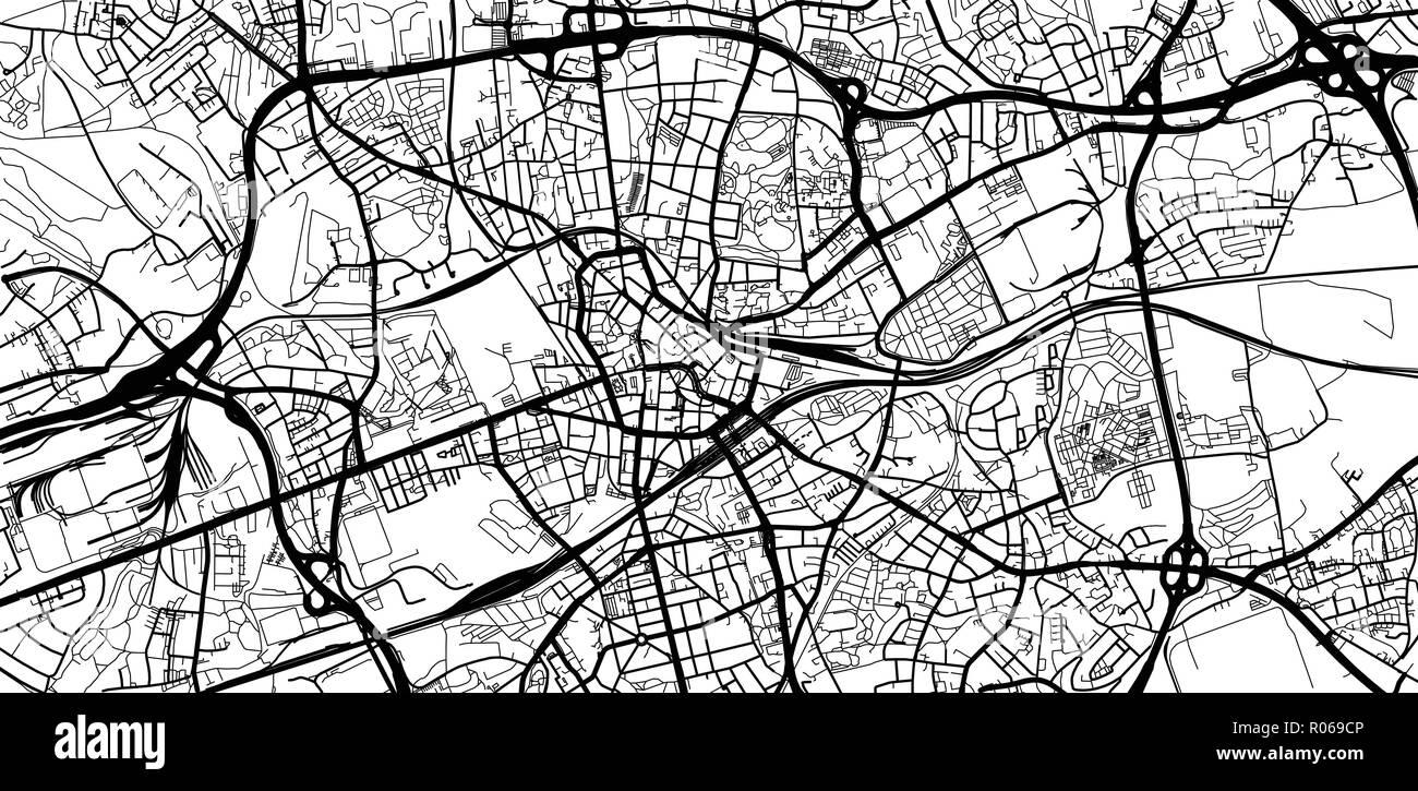 Urban Vector City Map Of Bochum Germany Stock Vector Art