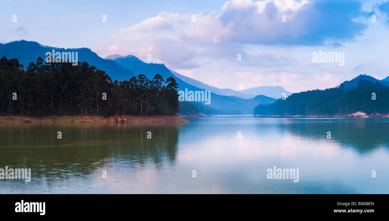 Mattupetty Damn, Munnar, Western Ghats Mountains, Kerala, India, Asia - Stock Image