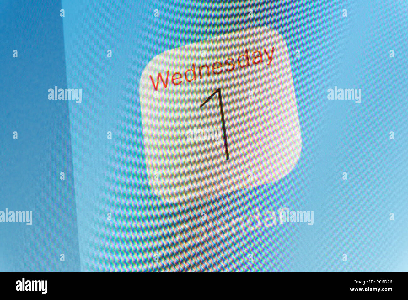 Mobile App And Calendar Stock Photos & Mobile App And