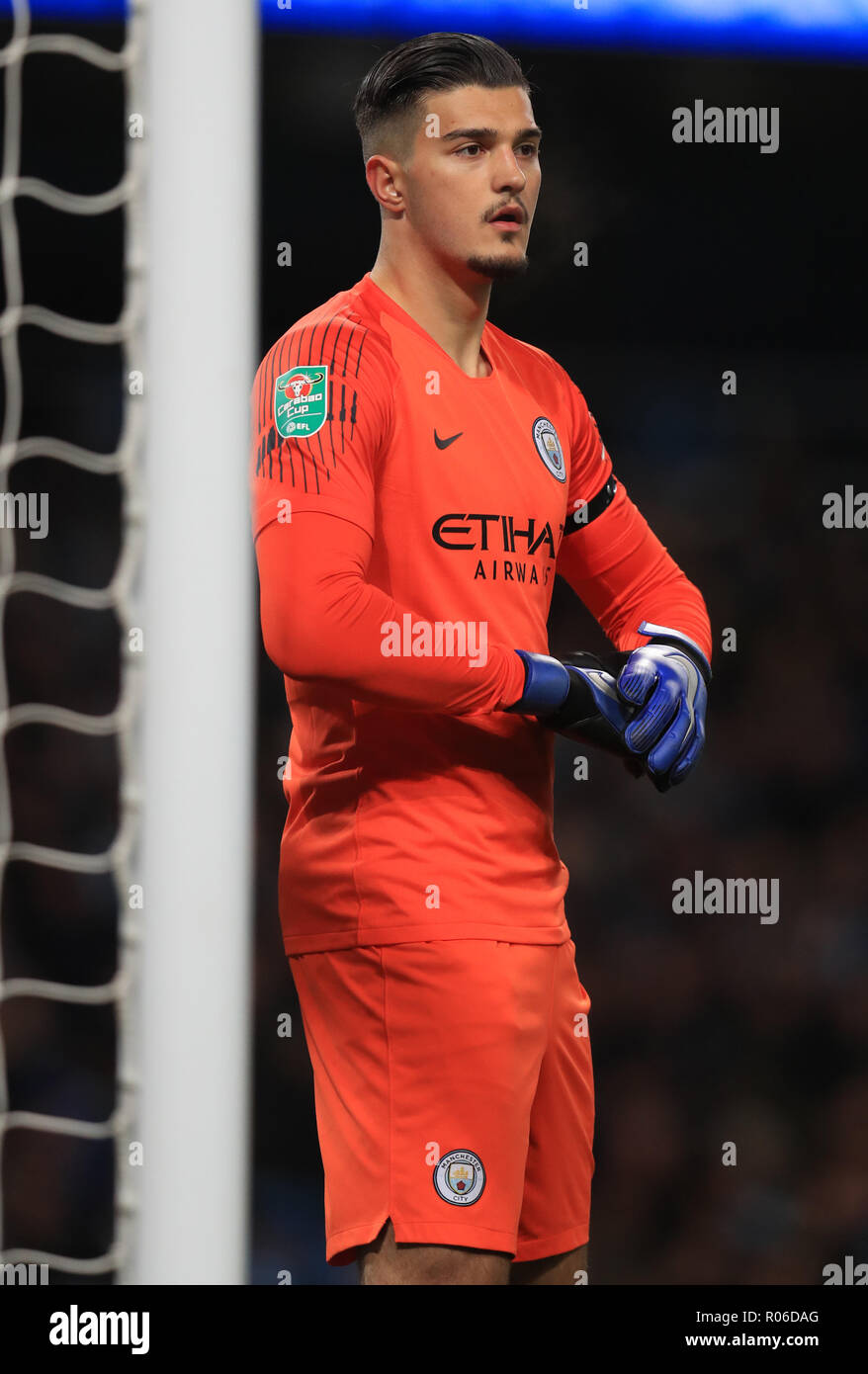 7ca627db6 Manchester City s Arijanet Muric during the Carabao Cup