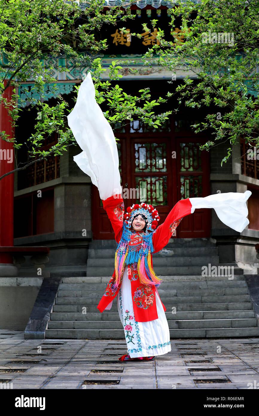 Chinese opera characters - Stock Image