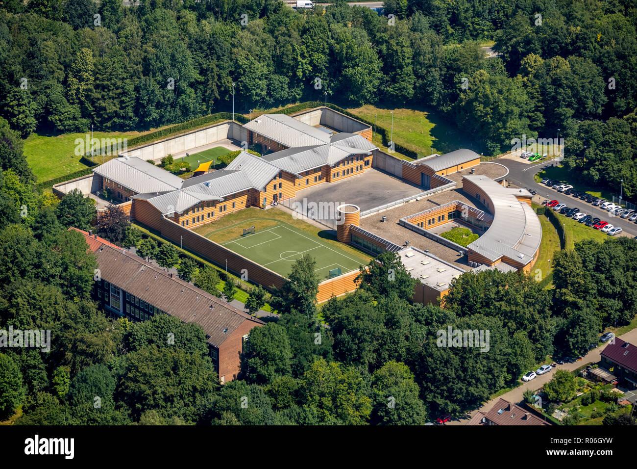 Luftbild, LWL-Klinik Aplerbeck, Landeskrankenhaus Dortmund, Dortmund, Ruhrgebiet, Nordrhein-Westfalen, Deutschland, DEU, Europa, birds-eyes view, Luft - Stock Image