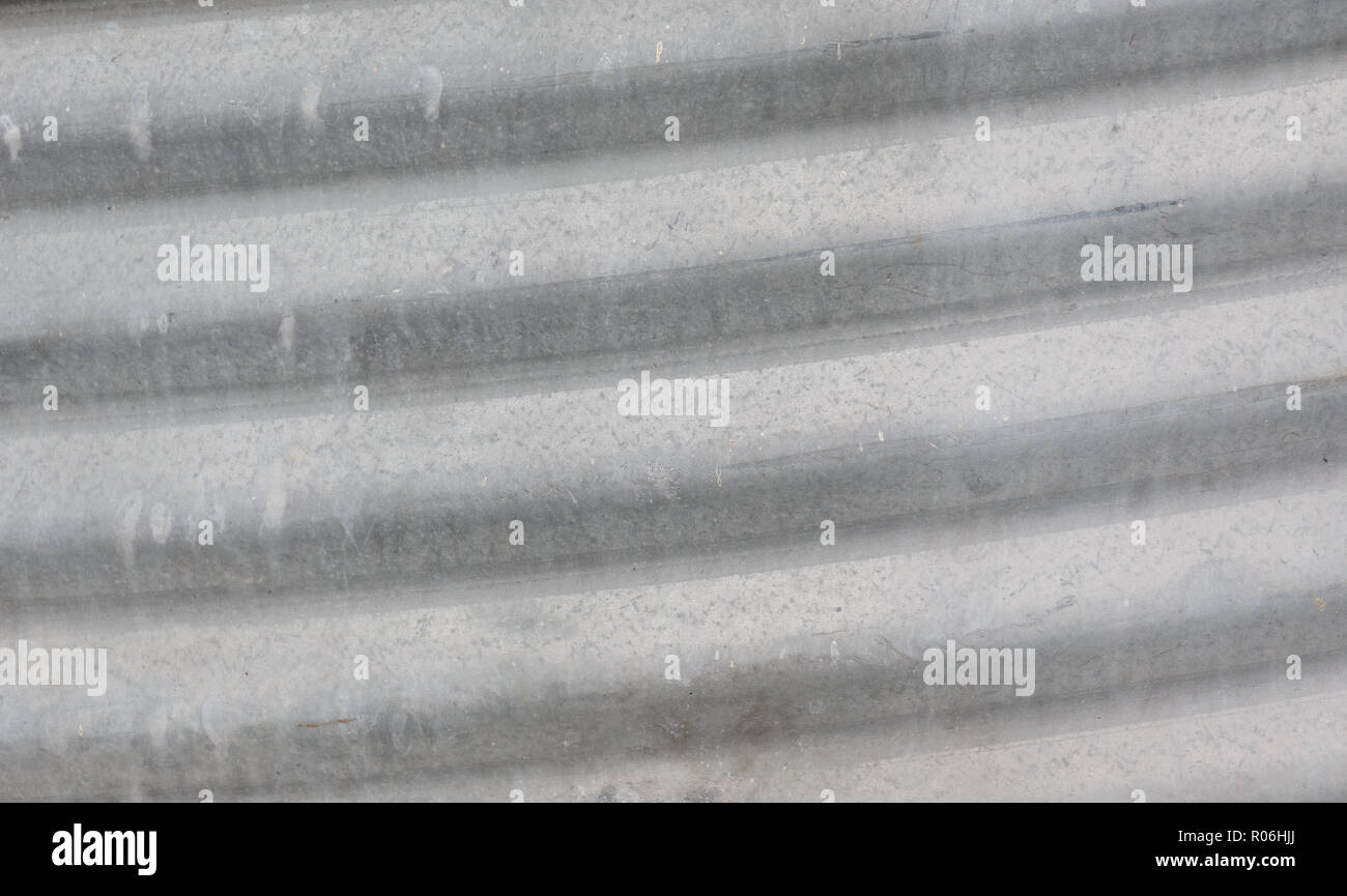 gray galvanized iron texture background, close up. - Stock Image