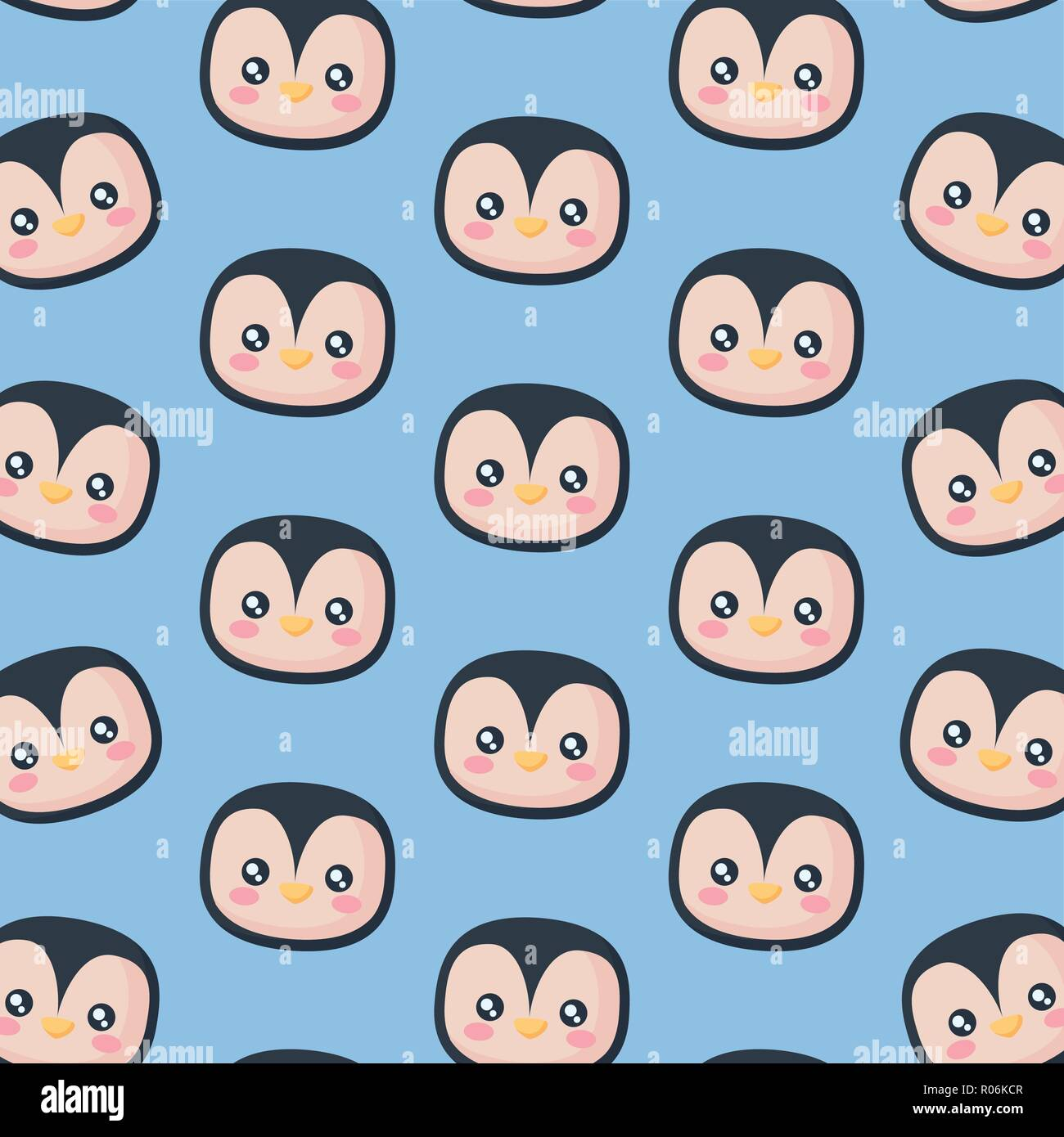 head of penguin icon pattern vector illustration design - Stock Vector