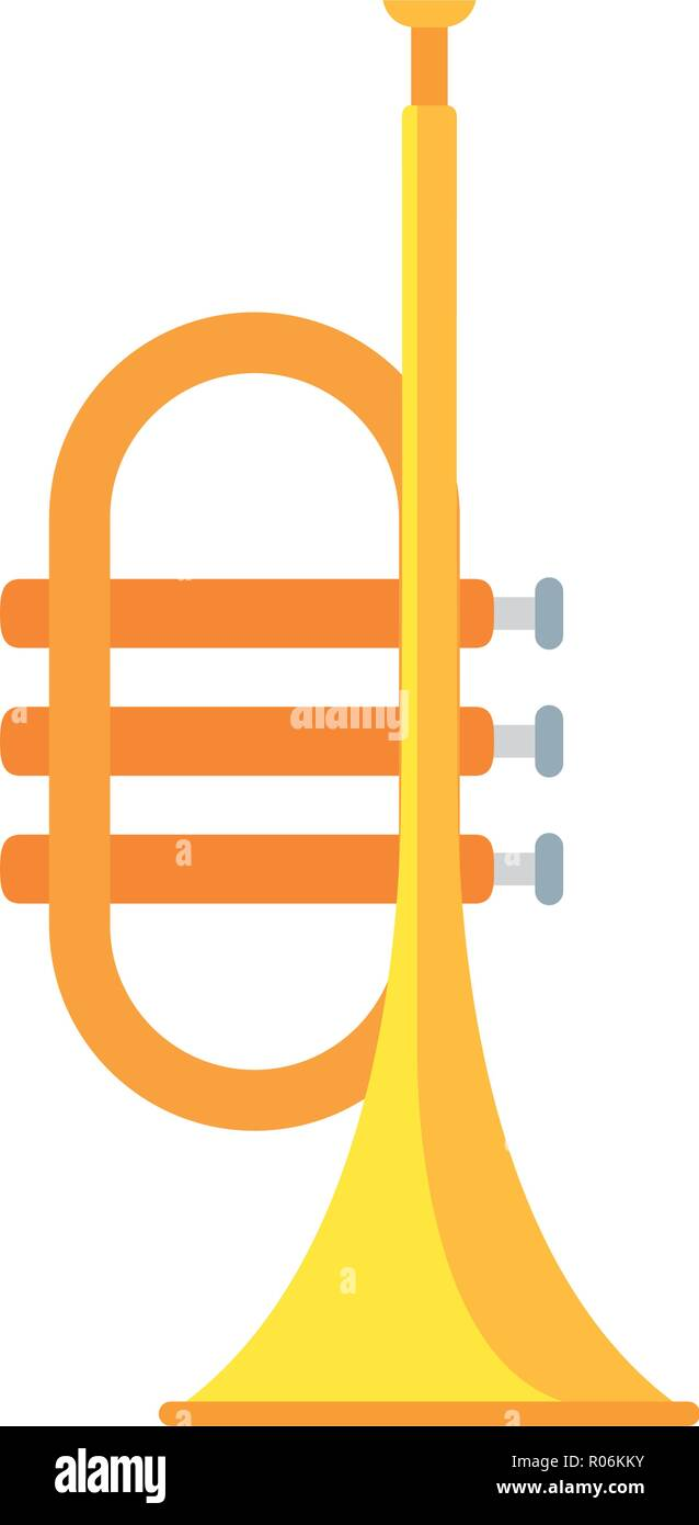 trumpet musical isolated icon vector illustration design - Stock Vector