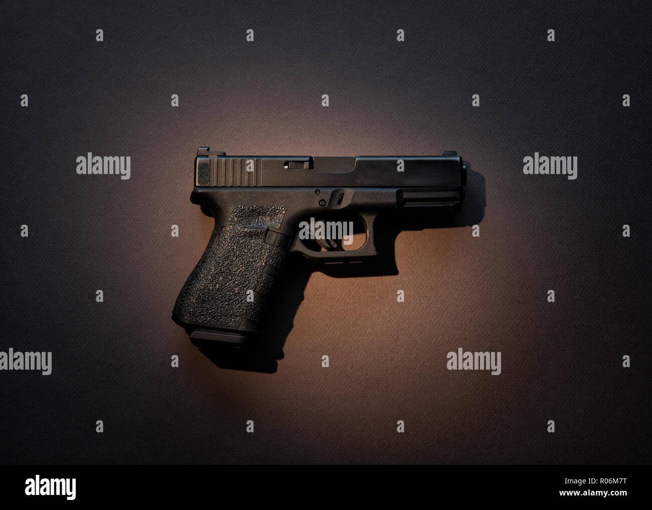 Semiautomatic handgun - Stock Image