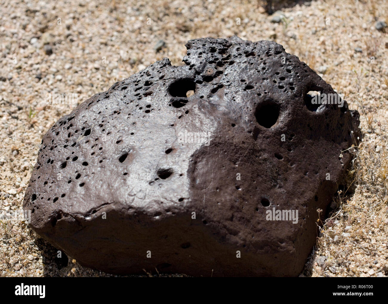 Igneous volcanic rock (lava rock) - California USA - Stock Image