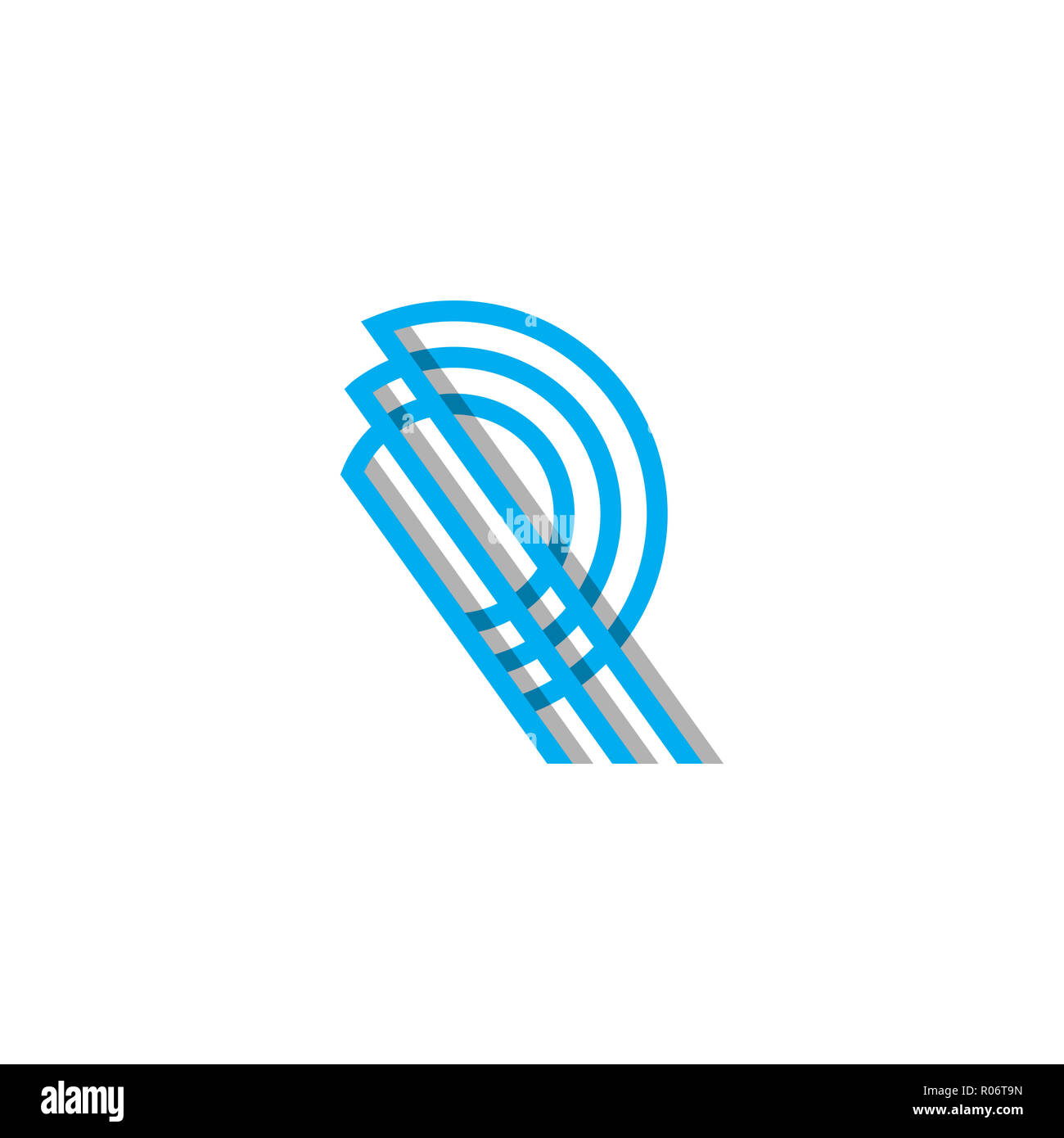 initial Monogram R Logo Template Vector illustration and inspiration, ready use for your brand - Stock Image