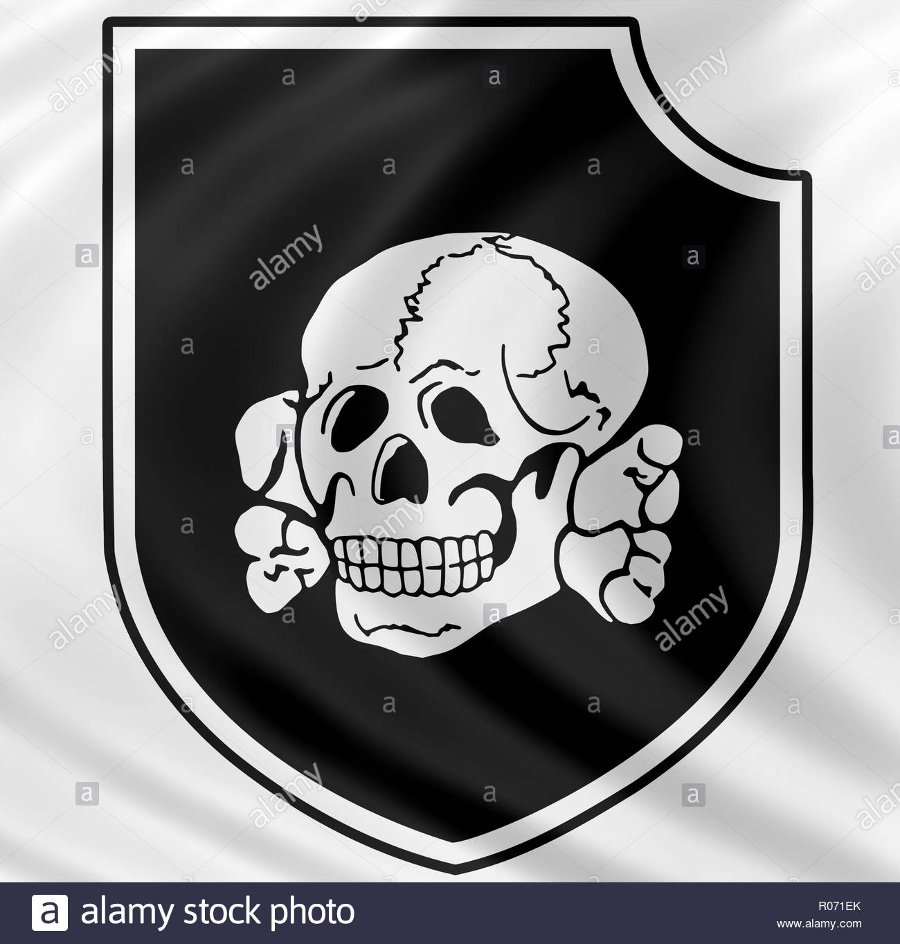 3rd SS Panzer Division Totenkopf logo - Stock Image