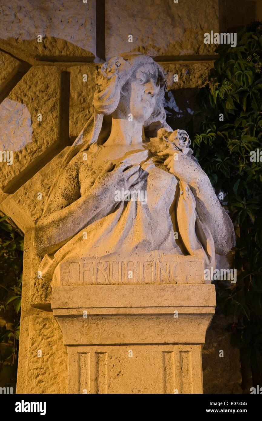 Wien, Stadtpark, Allegorische Figur Frühling - Stock Image