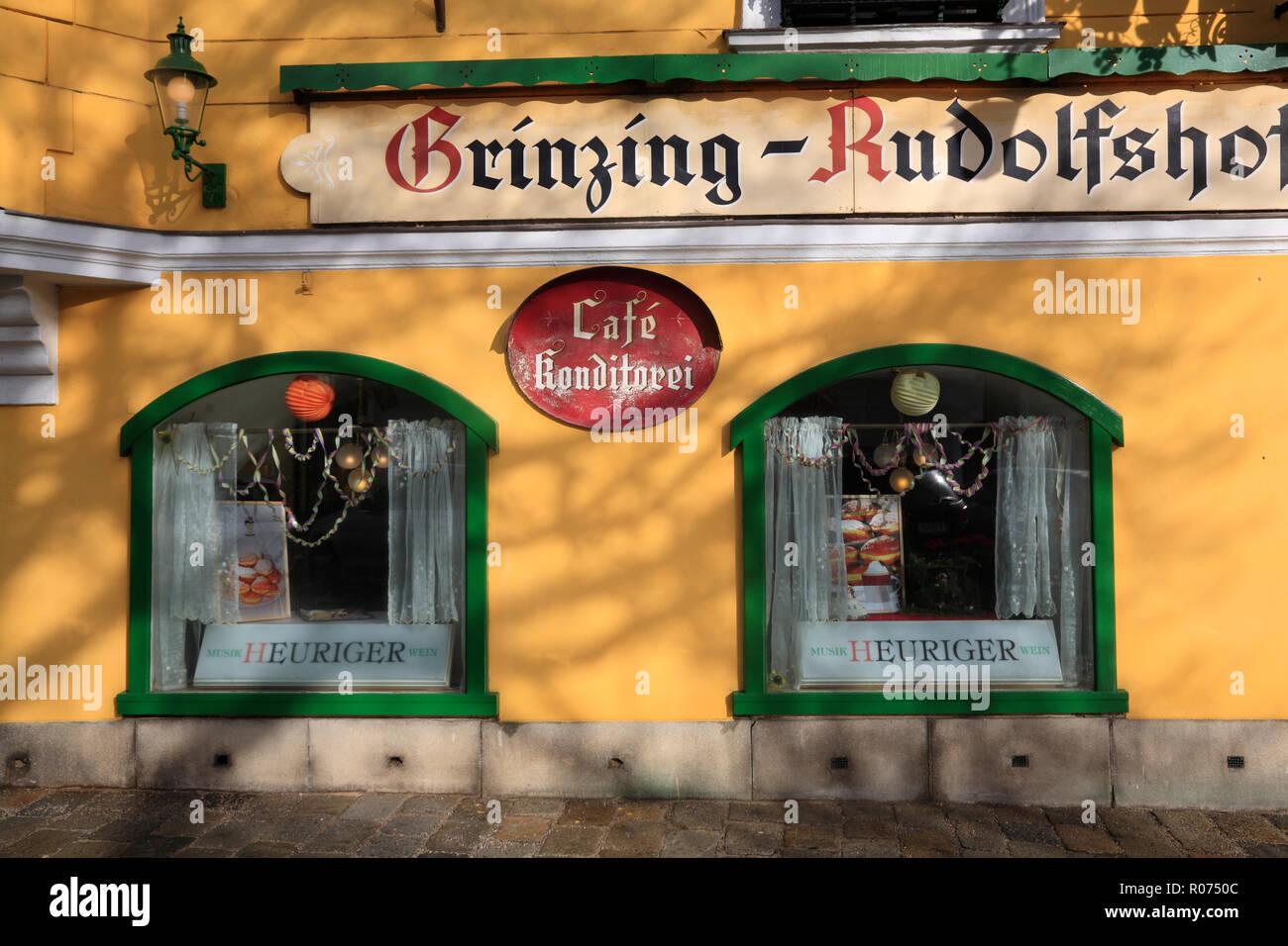 ÖSTERREICH, Wien, Grinzing, Heurigen-Lokal Rudolfshof - Stock Image