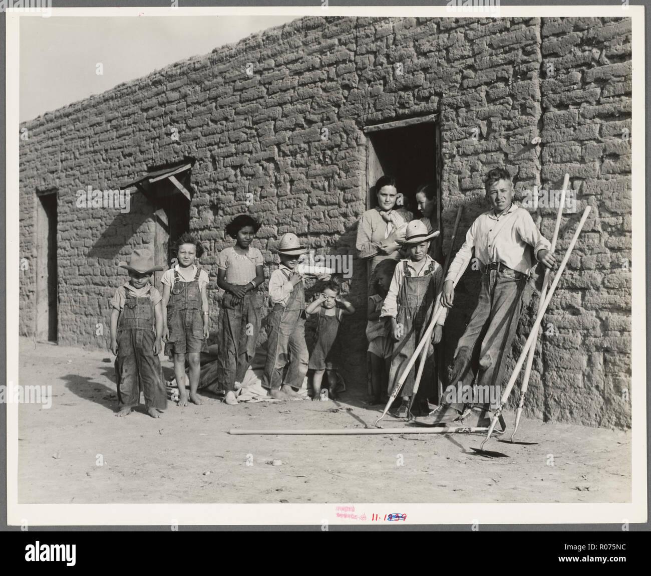 vintage great american depression era photo - Stock Image