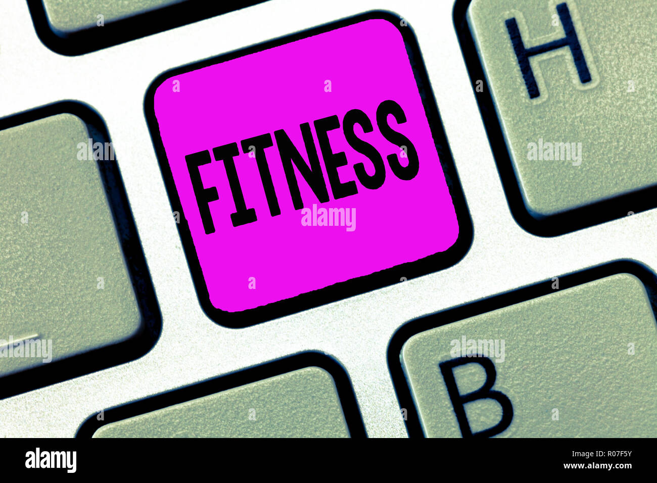 Word writing text Fitness. Business concept for Condition physically fit healthy Training Workout Suitable for role. - Stock Image