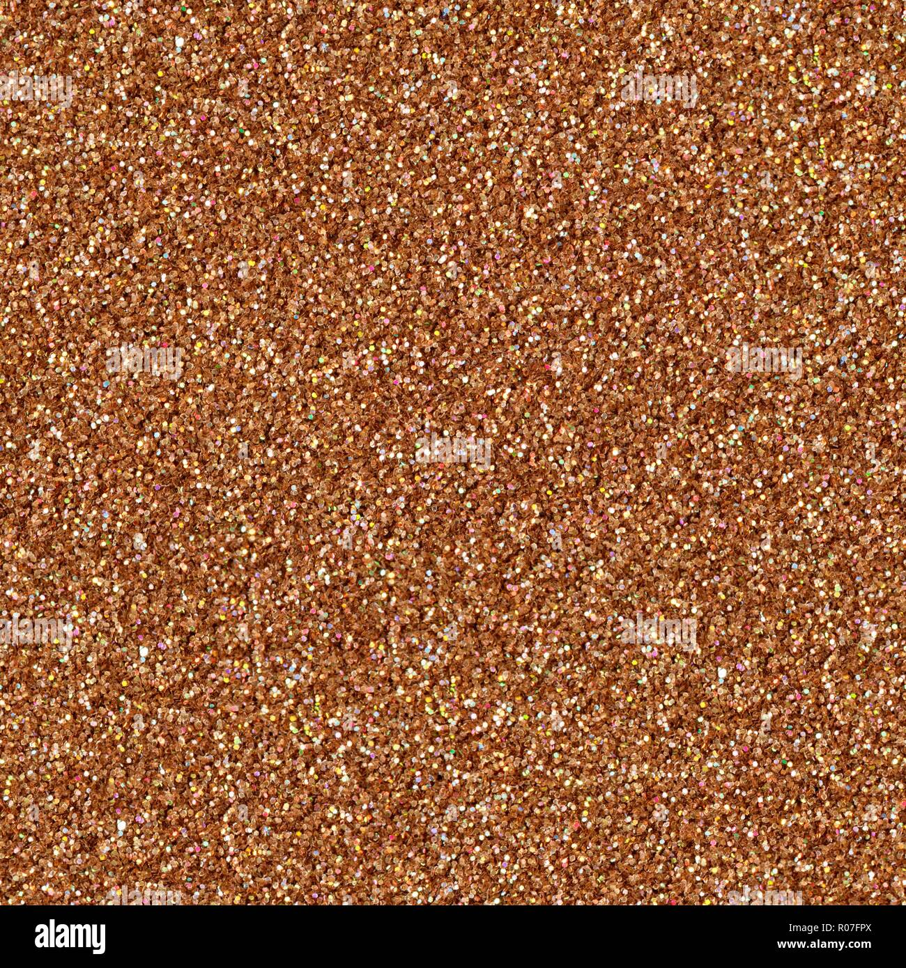 Brown glitter texture christmas abstract background. Seamless square texture. - Stock Image