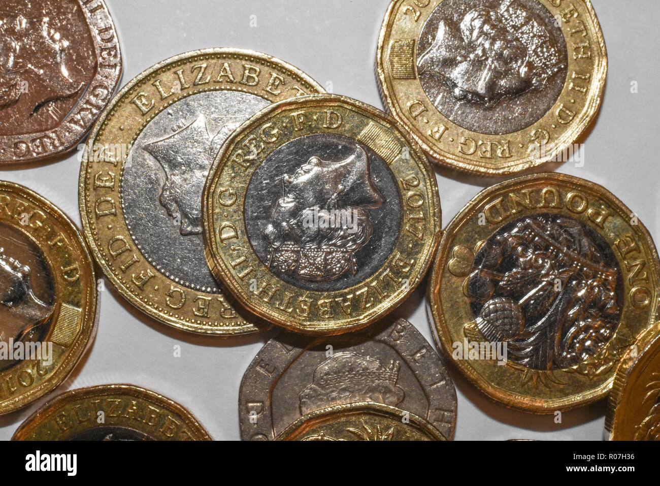coins from the UK - Stock Image