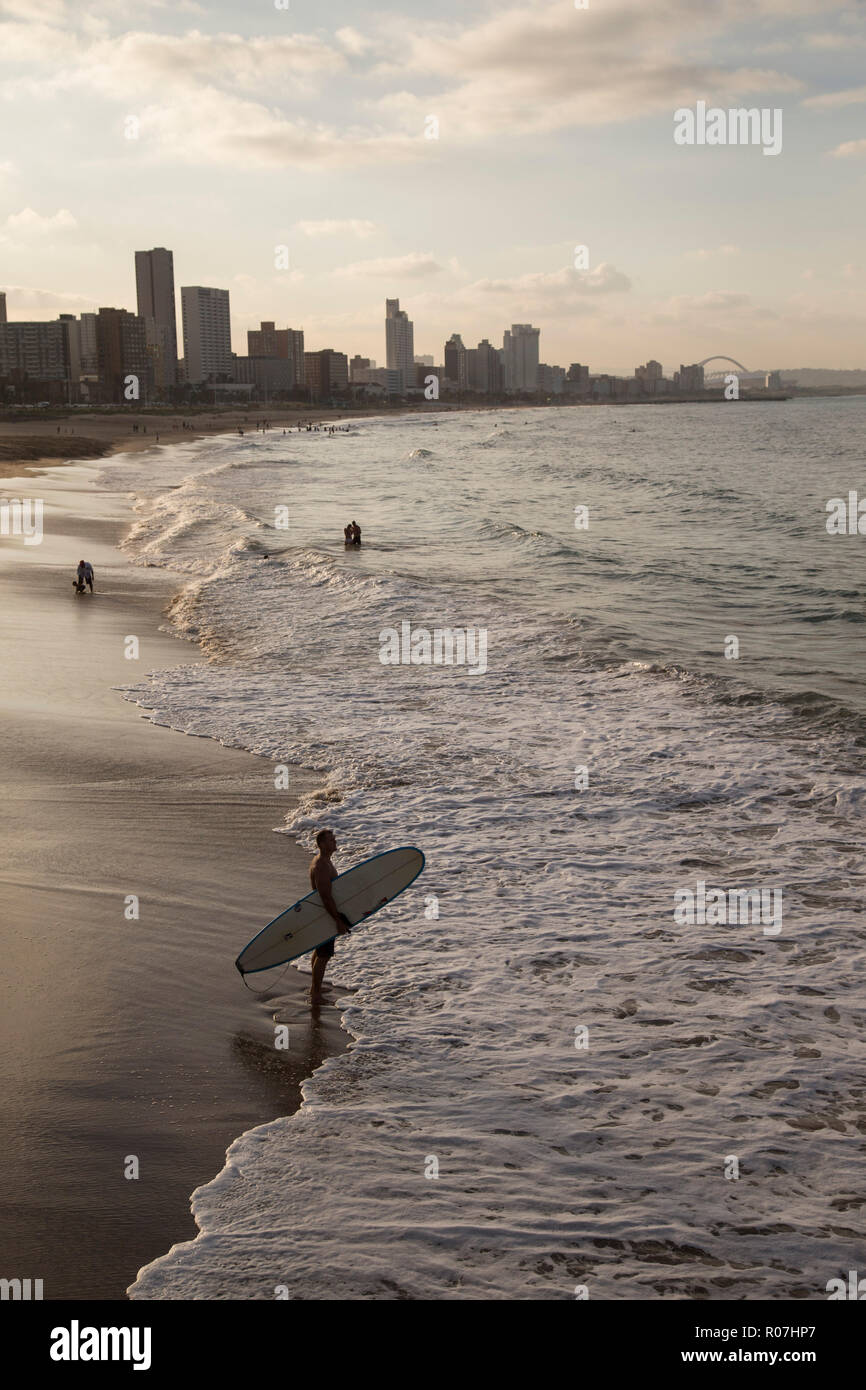 The beach front in Durban, South Africa, 6 May, 2018. © Rogan Ward 2017 - Stock Image