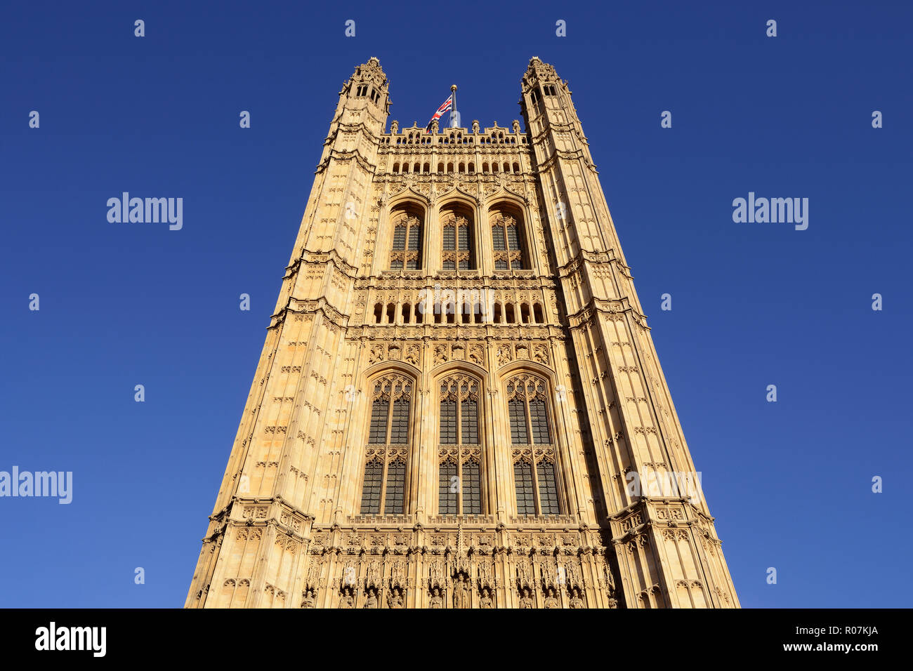 Victoria Tower, Houses of Parliament, Palace of Westminster, London, England, United Kingdom Stock Photo