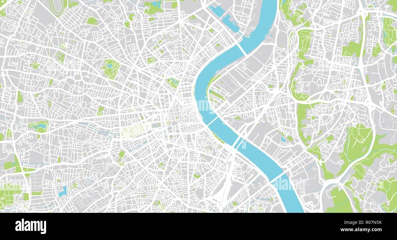 Urban Vector City Map Of Bordeaux France Stock Vector Art