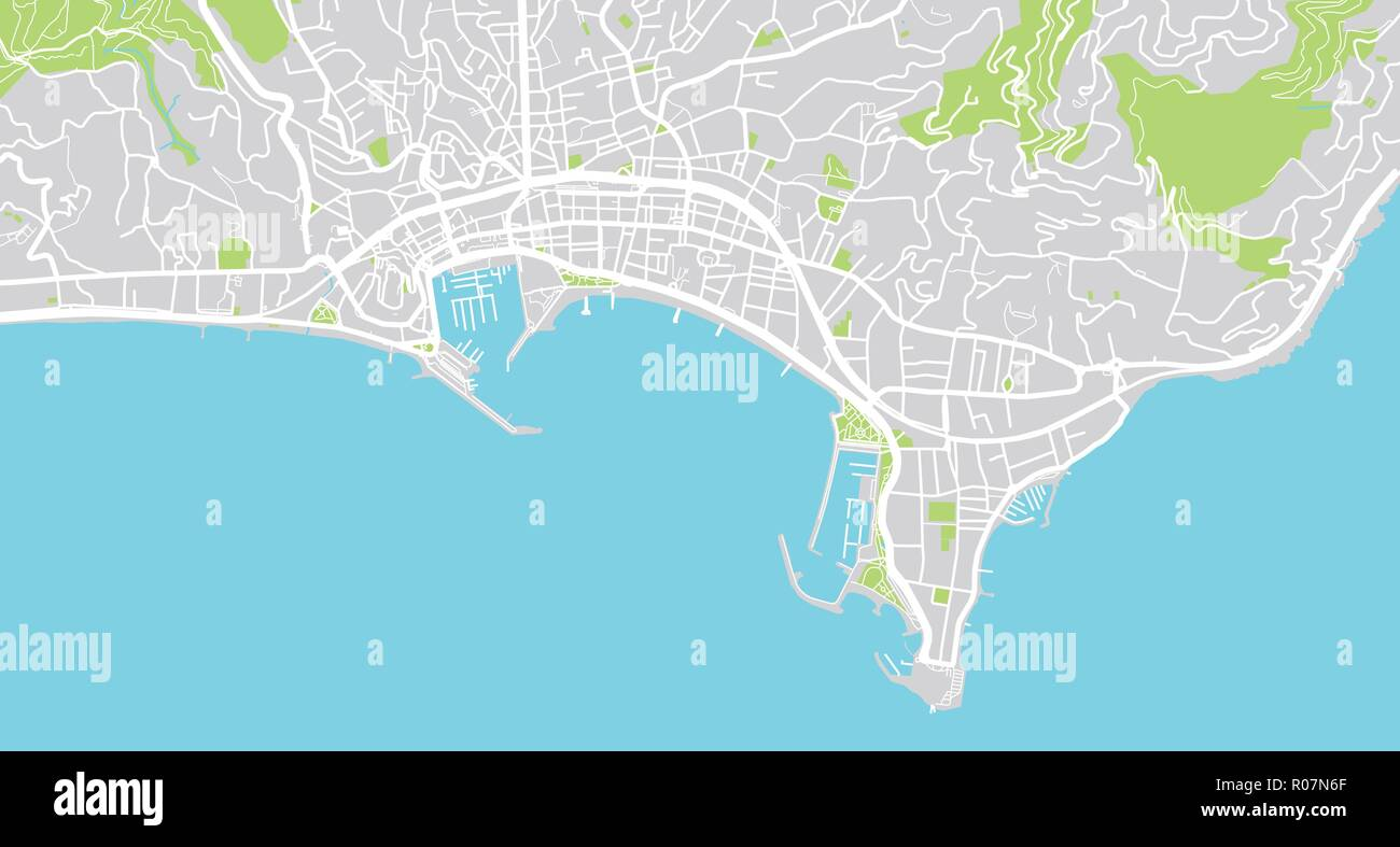 Map Of Cannes Urban vector city map of Cannes, France Stock Vector Art