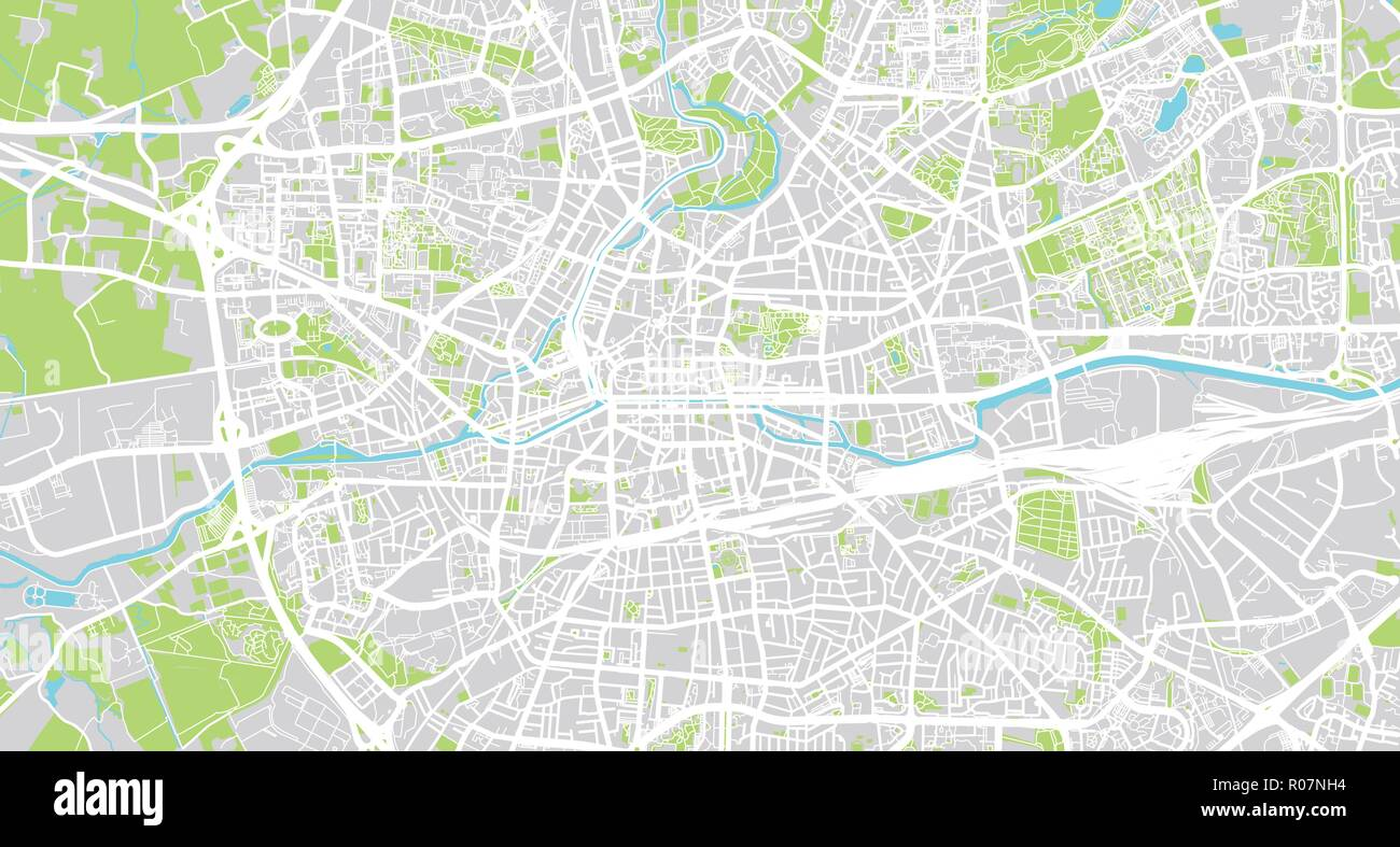 Map Of France Rennes.Urban Vector City Map Of Rennes France Stock Vector Art