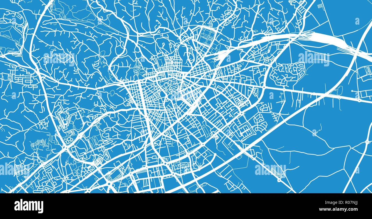Urban Vector City Map Of Nimes France Stock Vector Art