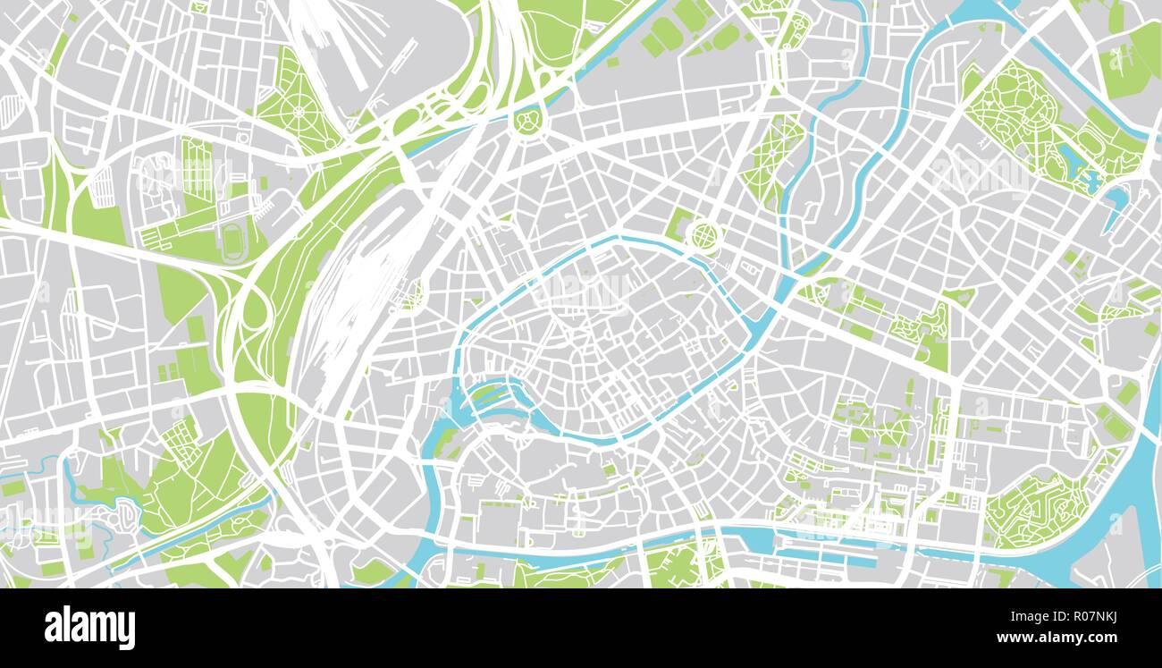 Urban Vector City Map Of Strasbourg France Stock Vector Art
