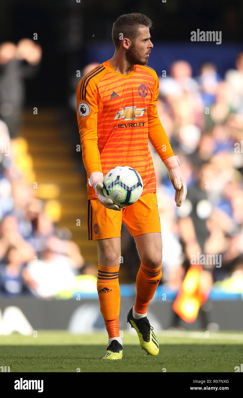 best authentic 4759f b0f60 Manchester United goalkeeper David de Gea Stock Photo ...