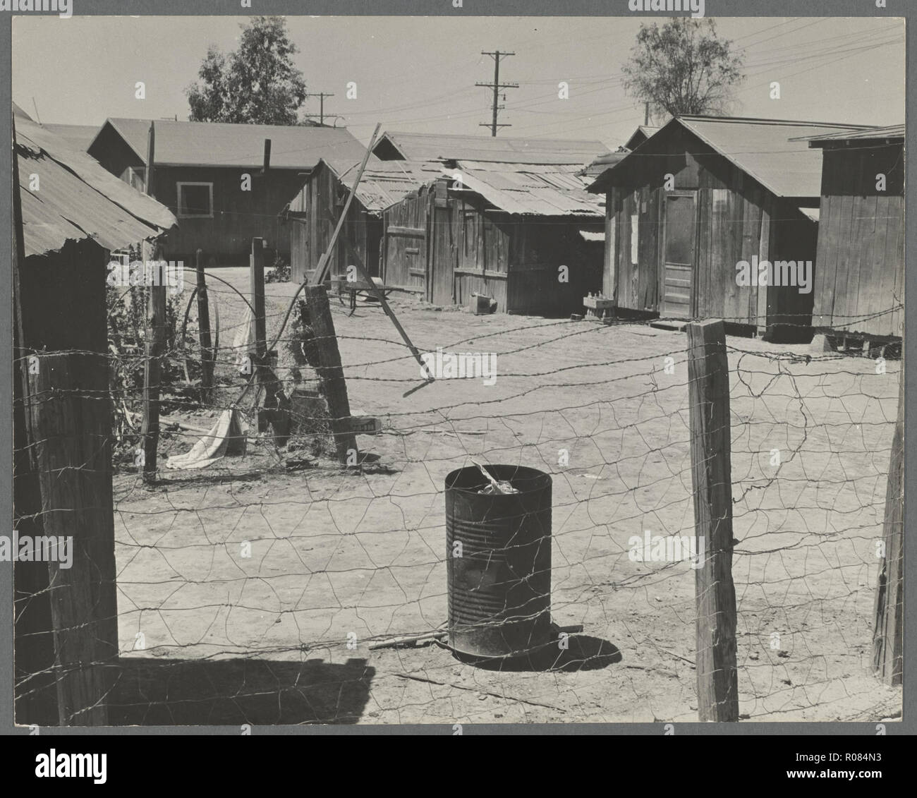 phot from the great depression in america around the 1930s - Stock Image