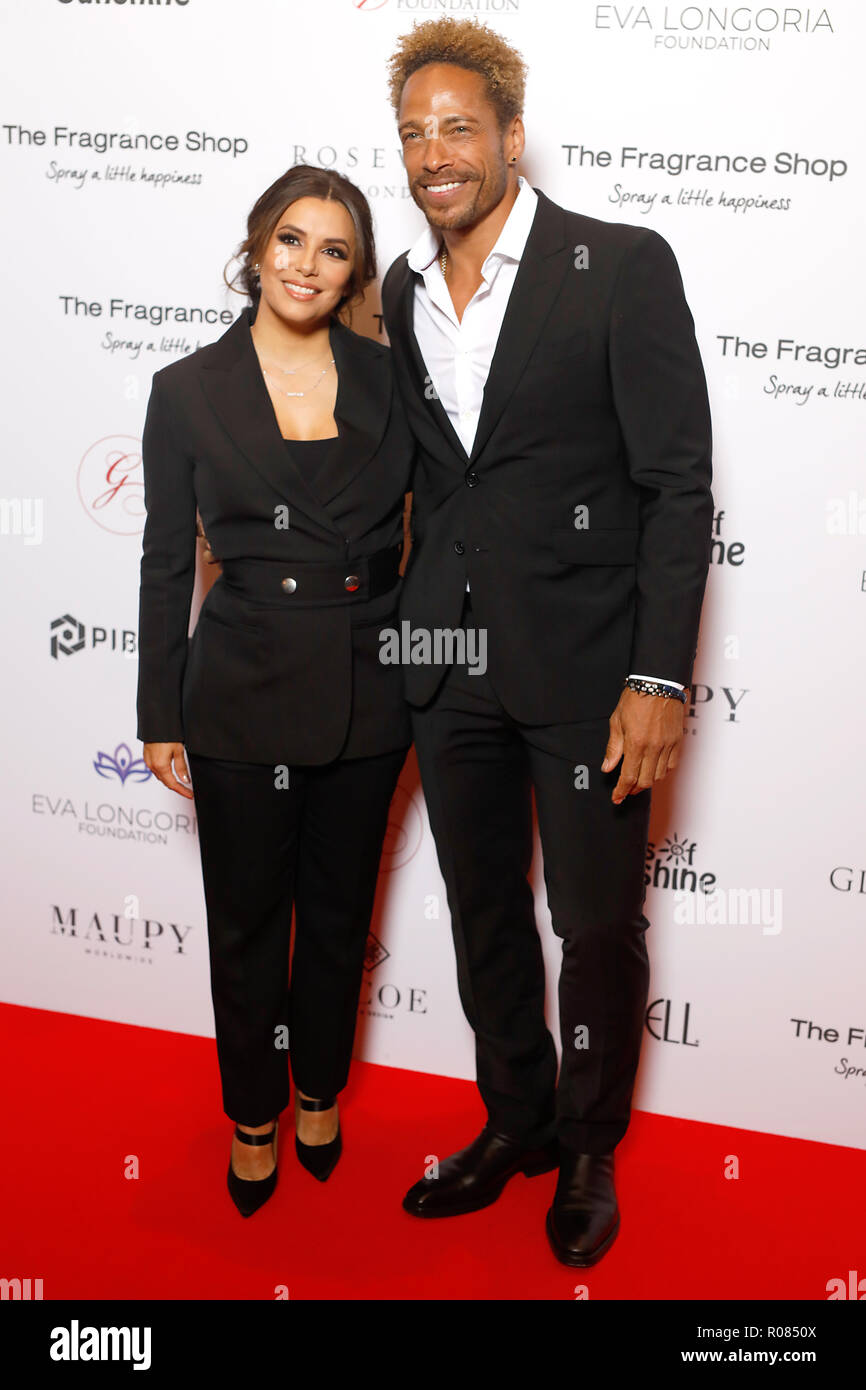 Eva Longoria Baston and Gary Dourdan attending the 9th Annual Global Gift Gala held at the Rosewood Hotel, London. Stock Photo