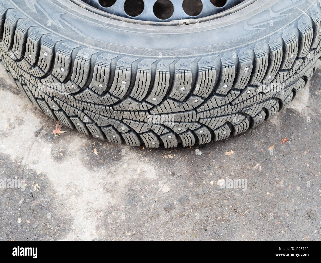 car tire tread worn stock  car tire tread worn stock images alamy