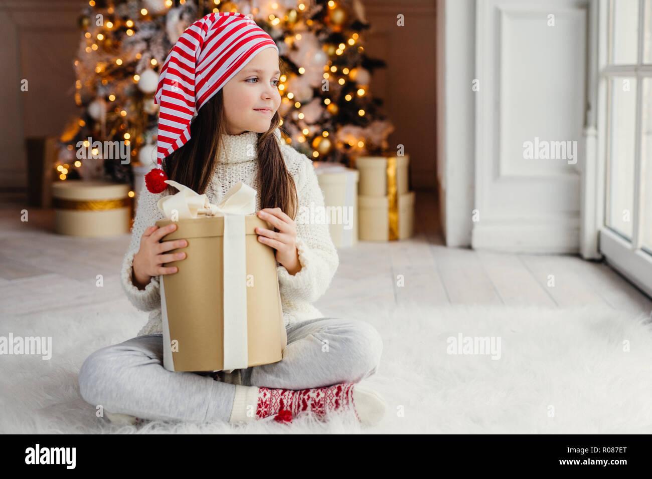 ccb8fe89018a0 Happy New Year Santa Claus Room Home Window Stock Photos   Happy New ...