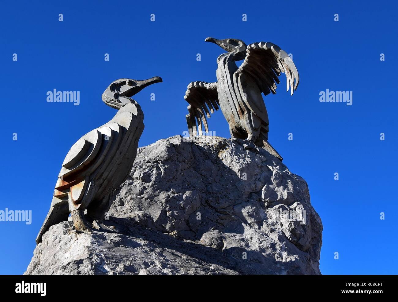 Cormorant Sculpture - Stock Image