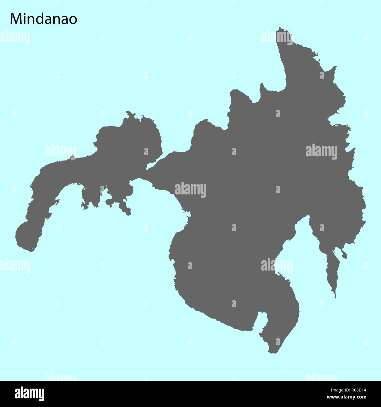 High Quality Map Of Mindanao Is The Island Stock Vector Art